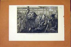 Antique Print of Cab Meeting Cambridge Hall Newman Street Print 1872