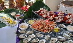 Fresh seafood bar - so perfect for a destination beach wedding!