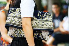 Margiela carpet clutch bag