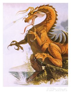 Dragon Giclee Print by English School at AllPosters.com