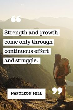 Strength comes from struggle