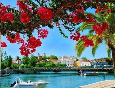 ✫ A Beautiful Day in Tavira, Portugal pieces) Portugal, Algarve, Places Around The World, Around The Worlds, Scenery Wallpaper, Bougainvillea, Beautiful Day, Bali, Castle