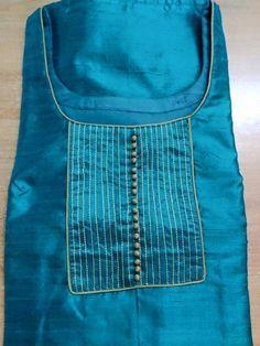 How to make different types of kurthi neck patterns - Simple Craft Ideas Salwar Neck Patterns, Neck Patterns For Kurtis, Salwar Kameez Neck Designs, Salwar Pattern, Churidar Designs, Kurta Neck Design, Suit Pattern, Shalwar Kameez, Churidhar Neck Designs