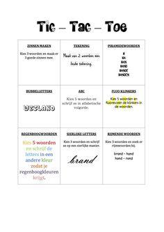Tic Tac Toe, Spelling, Classroom, School, Class Room, Games