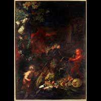 O. Loth, Natura morta con genietti, Galleria spada, Roma