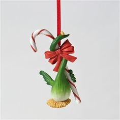 Home Grown Onion Egret Ornament
