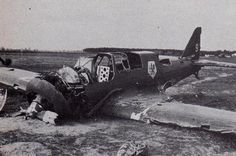 "a polish plane shot down PZL P.23B ""Karaś"" 41 Eskadra Rozpoznawcza , Toruń septembre 1939."