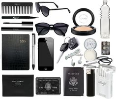"""""""What's in my bag ?"""" by juliettecolas ❤ liked on Polyvore"""