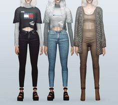 Neillan — -The Sims 2 / AF Layered Shirts / 10 colors -The...
