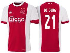 337b1b4ec6f Ajax Jersey frenkie de jong 17-18 Home Shirt Cheap Football Shirts