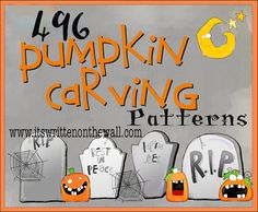 It's Written on the Wall: 496 FREE Halloween Pumpkin Carving Patterns-YEA!!!!