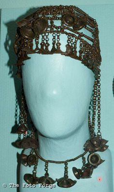 Latvian chain headdress and necklace.