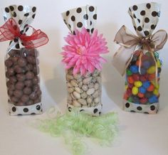Designer Cream And Chocolate Dots Cello Bags Click Image To Review More Details Gifts Wring