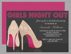 8 Best Girls Night Out Invitations Party Ideas Images Ladies