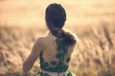 Green tulle fairytale dress by AtelierDeCoutureJK on Etsy