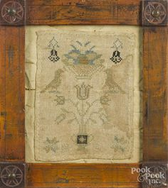 Chester County, Pennsylvania needlework sampler, early 19th c., initialed HS