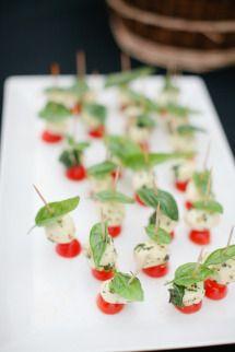 basil cherry tomato and cheese!