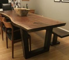 Most gorgeous tables EVER: Live Edge Harvest Tables Tree Green Team Collingwood Ontario