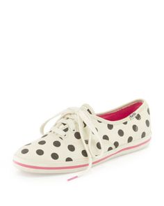 Why oh why did they not have these Keds when I was in college??? Keds Polka Dot Kick Sneaker by kate spade new york at Neiman Marcus.