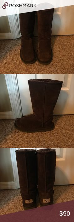 Brown Classic Tall Ugg Boots Brown Classic Tall Uggs, well-loved but still good condition UGG Shoes Winter & Rain Boots