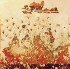 Saffron Gatherers - Minoan fresco