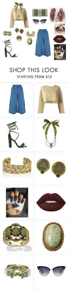 """&"" by ohbabyimrachel ❤ liked on Polyvore featuring New Look, adidas Originals, Dsquared2, Aurélie Bidermann, Lime Crime, Palm Beach Jewelry, Urbiana, Otazu and Gucci"