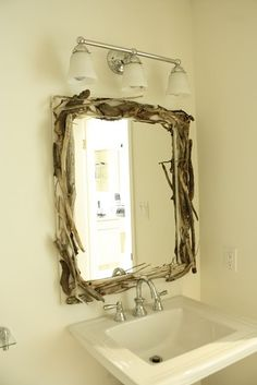Drift wood mirror