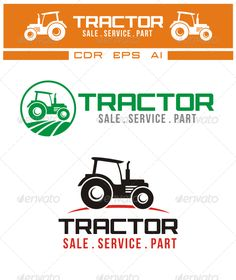 Tractor Logo Resizable Vector EPS and AI editable Color font and sizeMain Font used : cafe ne Logo Design Template, Logo Templates, Tractor Logo, Agriculture Business, Typography Logo, Logos, Internet Logo, Farm Logo, Service Logo