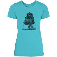 Mintage Amazing Tree House Womens Fine Jersey T-Shirt