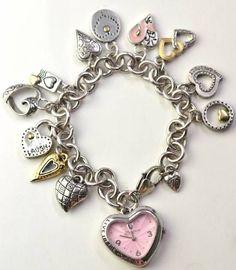 BRIGHTON Heart Charm Bracelet Watch
