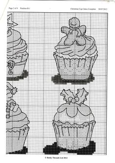 Cupcake Cross Stitch, Xmas Cross Stitch, Cross Stitch Christmas Ornaments, Christmas Cross, Cross Stitching, Cross Stitch Designs, Cross Stitch Patterns, Ladder Stitch, Plastic Canvas