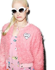 cc9e49bce61 Lazy Oaf Fluffy Pink Bomber Jacket (i love this but its really expensive so  ignore