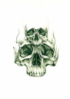 double skull sketch by Rebel Monkey Tattoos, via Flickr