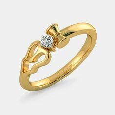 The Divine Trishool Ring for Her is a certified Diamond Ring In Gold. It is available for ₹ ✔ Certified ✔ Money Back ✔ Lifetime Exchange ✔ COD Ganesh Pendant, Om Pendant, Gold Jewellery Design, Silver Jewelry, Temple Jewellery, India Jewelry, Hand Bracelet, Rings For Her, Ring Designs