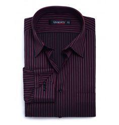 Black & Pink Stripe Dress Shirt