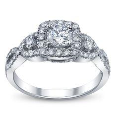 14K White Gold Diamond Engagement Ring Setting - Robbins Brothers