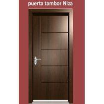 Puerta de madera color nogal ingles ideas para el hogar Puertas de madera interiores minimalistas