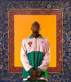 #On view @la_villette from June 5 to July 10 don't miss Kehinde Wiley and DavidLaChapelle's participation in 'La Grande Galerie du Foot' group show curated by Jean-Max Colard during #FootForaine event in Paris  #LaVillette #KehindeWiley #DavidLaChapelle #Foot #Paris #GreatGallery #Exhibition #GroupShow #ContemporaryArt #Painting #Photography  #GalerieTemplon #DanielTemplon #IdrissaNdiaye ill : Kehinde Wiley, IdrissaNdiaye, 2012, oil on canvas, 96 x 84 in, 244 x 213 cm. @kehindewiley