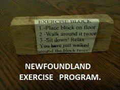 Newfie exercise, hehe