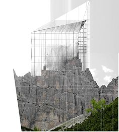Beniamino Servino. Anonymous mountain Cathedral. Architecture Drawings, Anonymous, Mount Rushmore, Cathedral, Louvre, Models, Mountains, Building, Travel