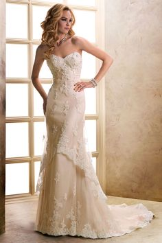 Love the colour and soft delicate lace.