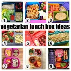 vegetarian lunch box ideas