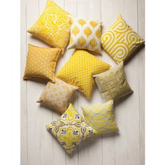 The Gramercy pillow is the perfect balance of sophisticated and fun. Materials: 100% Linen Notes: Down Insert Included Yellow Cushions, Yellow Throw Pillows, Yellow Cushion Covers, Yellow Bedroom Accessories, Home Decor Accessories, Decorative Accessories, Decor Wedding, Wedding Table Flowers, Wedding Ideas