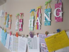 Crissy's Crafts: Let it Hang