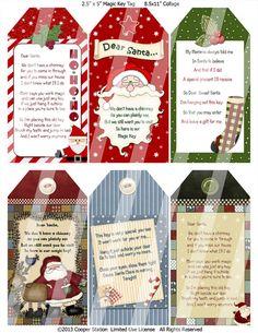 Digital Santa's Magic Key Tag by CooperStation on Etsy