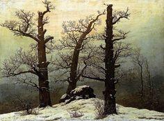 Dolmen in the Snow, 1807 by Caspar David Friedrich
