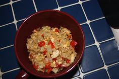 Are you looking for new ways to use up leftovers? This is an easy and healthy recipe for fried rice that you can use leftover veggies, meat or rice in. Fried Rice, Grains, Veggies, Healthy Recipes, Canning, Meat, Food, Home Canning, Healthy Eating Recipes
