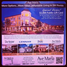 New incentive for home purchases ! $5000 Publix Gift Card