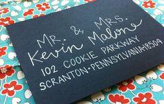 lettering letter wedding invitation