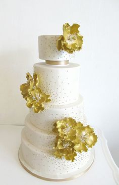 Golden Peonies by Anna Elizabeth Cakes, via Flickr